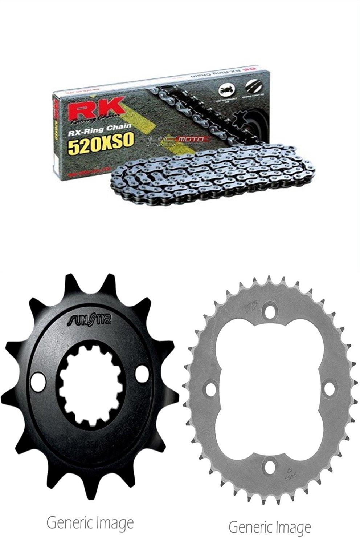 RK RX-Ring Chain 520XSO, SUNSTAR Front & Rear Steel Sprocket Kit for ATV/UTV HONDA TRX400EX 2005-2008