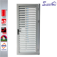 Custom entrance doors french security screen door with louver design