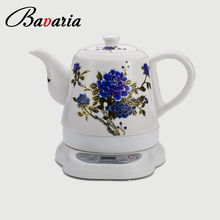 1.2 Liter New Design Good Quality Electric Ceramic Flower Tea Kettle