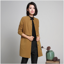 fashionable simple widely plainlong coats of women