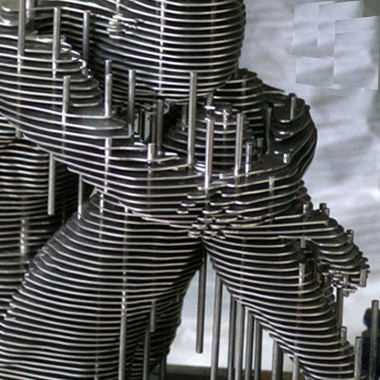 Abstract modern garden art metal sculpture home decor