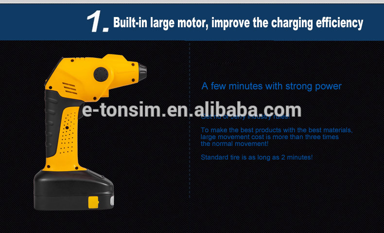 Tonsim Pressure and 12V Air Compressor TPMS Car Auto Portable Mini Air Compressor