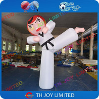 outdoor advertising inflatable taekwondo boy, large cartoon karate inflatable character