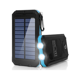 Custom Fast Charging Solar Power Bank Mobile Phone Charger