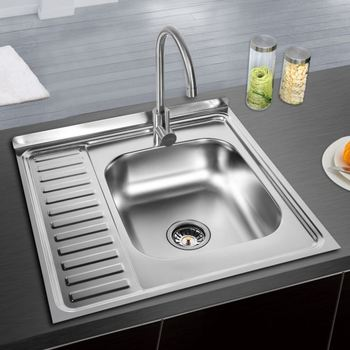 Deep Double Bowl Kitchen Sinks Water Sink Strainer Mobile Undermount Corner Product On