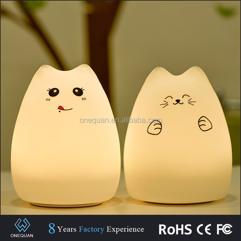 Amazon 2017 silicone touch cat sensor switch sensor usb led sleep night <strong>light</strong>