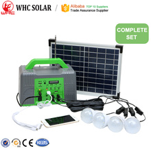 Portable complete solar photovoltaic kits home lighting system 10W