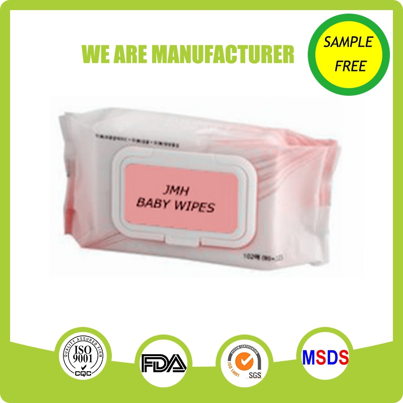 Daily use 80pc baby wet wipes europe with plastic lid