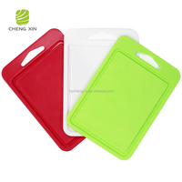 hot sale BPA free classic kitchen fruit vegetable top rated red cutting boards