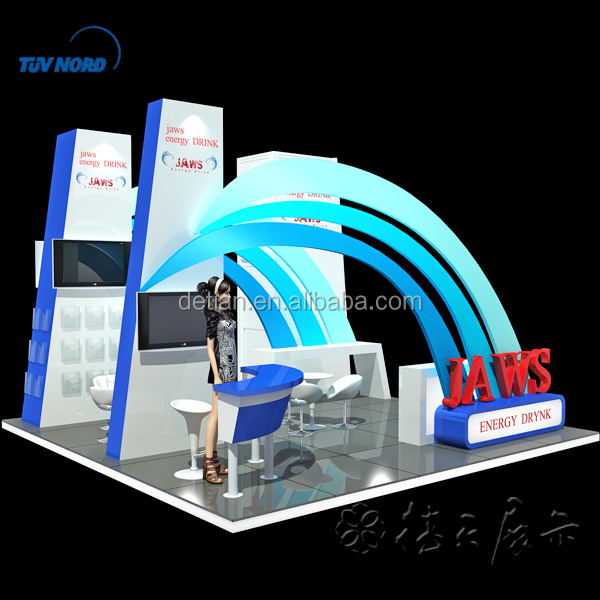 Modern trade show booth advertising display stand exhibit