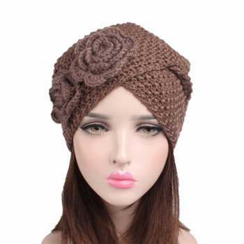China Wholesale Woman Fancy Fashion Acrylic Knitted Can Custom Muslim  Turban Hat 323a214c0f61