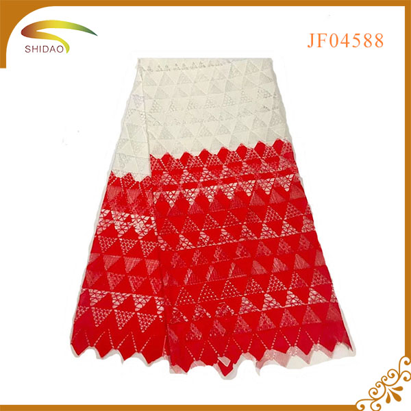 elegant custom design hot selling flower embroidery tulle lace fabric for wedding party