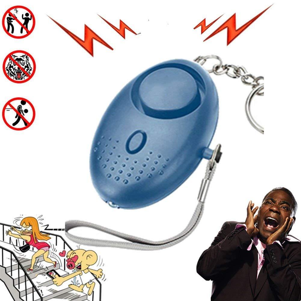 Hangang Alarm Safety Keychain Flashlight Led Mini,130dB - Emergency Alarm for Women Kids,Keychain 3 Packs,Reusable (Blue)
