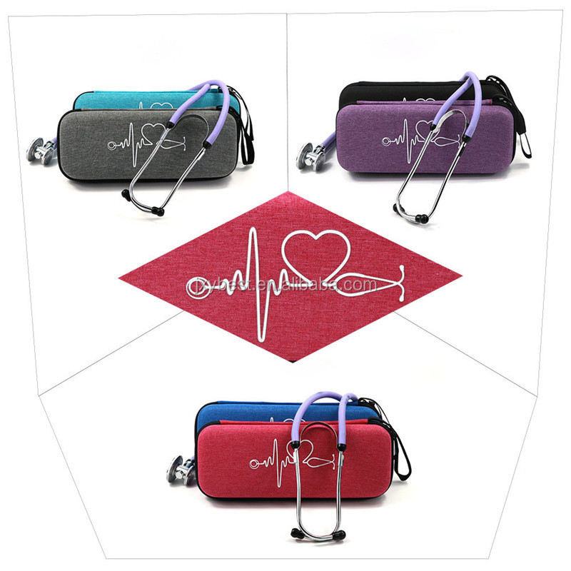 Portable Hard EVA Travel Carrying Case for Littmann Classic III/Cardiology IV Stethoscope and Taylor Percussion Reflex Hammer