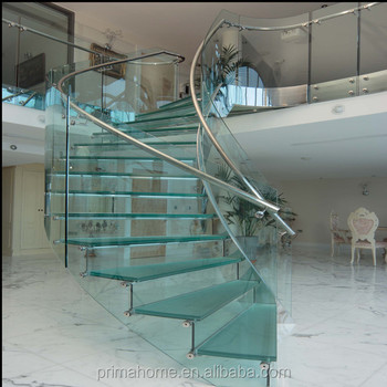Superieur Low Cost With High Safety Curved Staircase Glass Stairs Price Indoor  Fiberglass Stair Steps Lowes