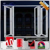 China AS2047 certificate aluminium high quality folding doors design for room