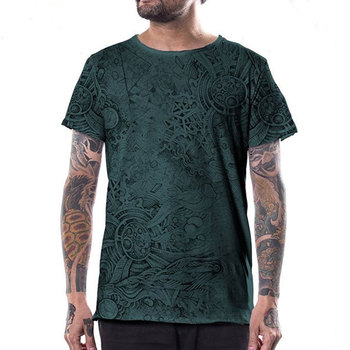 newest design all over dye printed cotton t shirts men