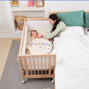 Best Sell Attachable to Adult Bed Adult Baby Crib Single Cot Bed