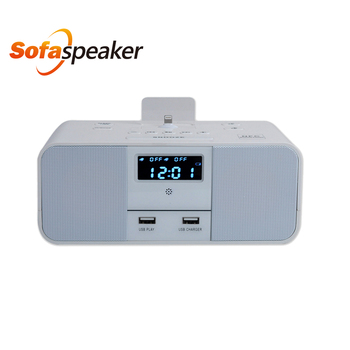 mini digital bluetooth sofa speaker with handfree fm radio clock alarm remote. Black Bedroom Furniture Sets. Home Design Ideas