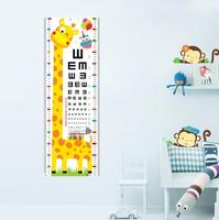Hot Mother and baby gift home decoration wall stickers children room giraffe visual acuity table height wall sticker