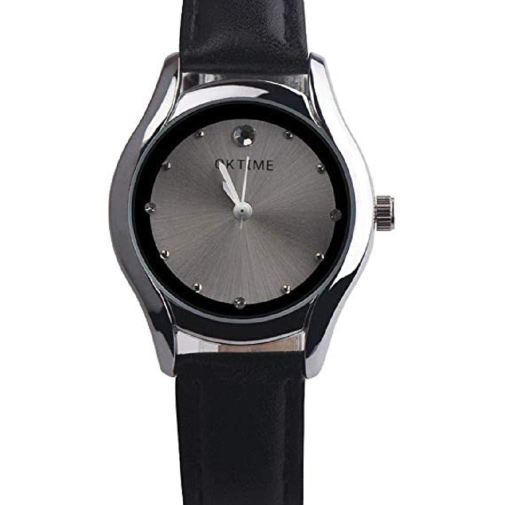 Women Quartz Watches,Windoson Analog Clearance Ladies Wrist Watches Girl Watches Quartz Analog Leather Female Watches New (Black)