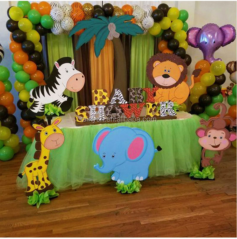 Decoracion De Baby Shower De Animales.75pcs Jungle Party Balloons Decoration Kit Safari Party Baby Shower Animal Balloons Arch Kids Birthday Balloon Zoo Themed Party Buy Jungle Party