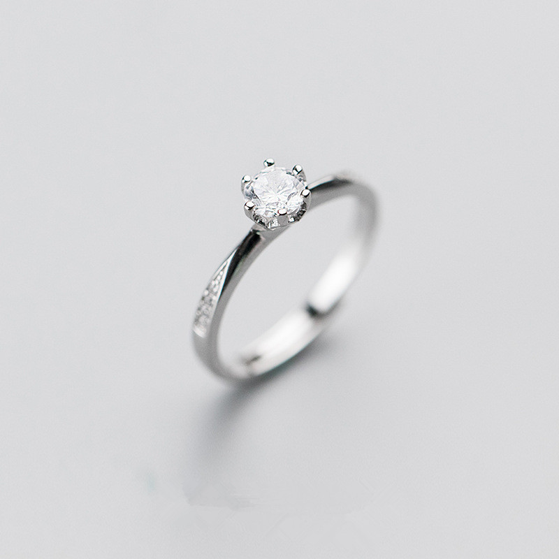 Simple Design Engagement Ring Silver Jewellery Wedding Ring 925 Sterling Silver Ring For Girl