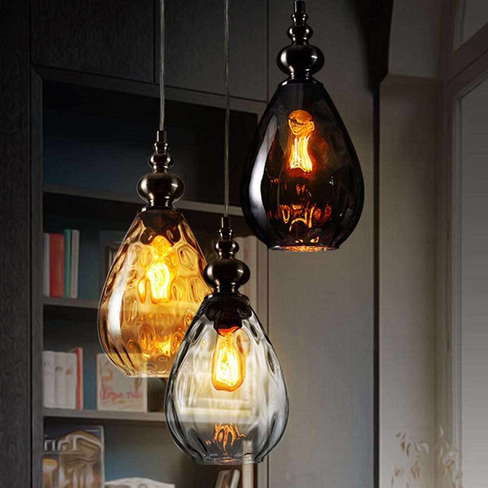 Modern vintage led globo de cristal claro colgante - Luminarias colgantes ...