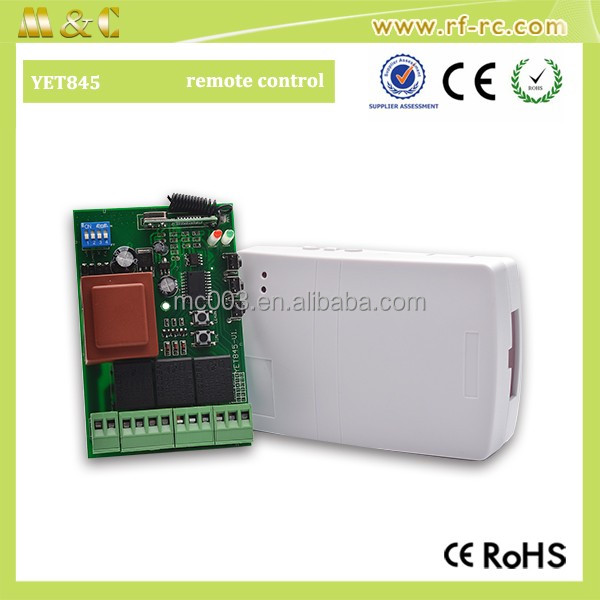 Universal electric roller shutter doors remote controller, wireless rf receiver, controller YET 845 for Rolling