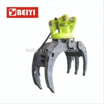 Excavator used BeiYi series forest hydraulic rotating log grapple for sale