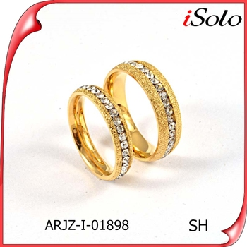 Newest design dubai couple wedding couple rings gold couple ring