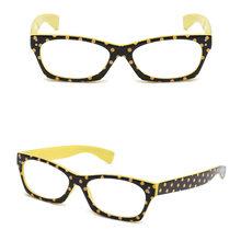 Женские модные очки для чтения Dot дизайн кошачий глаз высокого качества Смола винтажное стекло для глаз es пресбиопическое стекло диоптрий 1 ...(Китай)