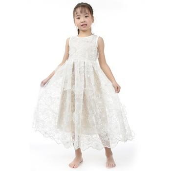 c29cd926c79b0 Hot Sell Wholesale Girls Kids Sleeveless White Flower Dress Maxi Dress  Children Fancy Party Dress - Buy Children Fancy Party Dress,Kids Party Wear  ...