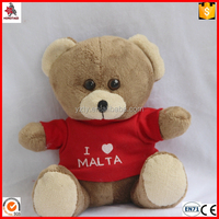 mini brown teddy bear with logo Tshirt