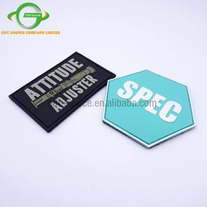 Custom Shape Soft PVC/Rubber Patches with adhesive back