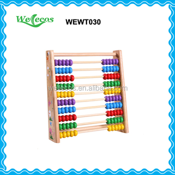 10 Rods Abacus Counting Frame Education Instrument Wooden Frame ...
