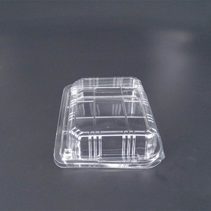 PET plastic container Transparent fruit or vegetables clamshell blister packaging tray