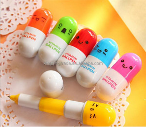 Cartoon Colorful Flexible Ballpoint Pen Korean Stationery Creative Gift School Supplies Capsule Ballpoint Pen