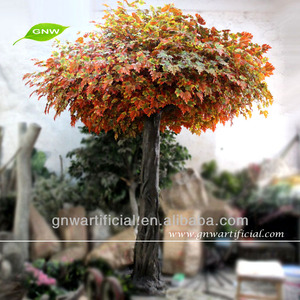 Artificial Tree Orange Maple Leaves 12ft high