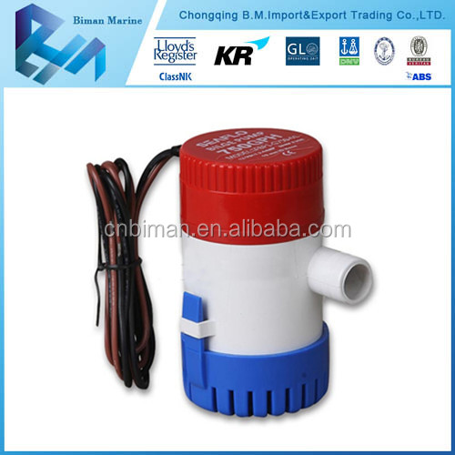 2015 High Quality 350GPH 12V Sea Water Pump for Yacht & Boat