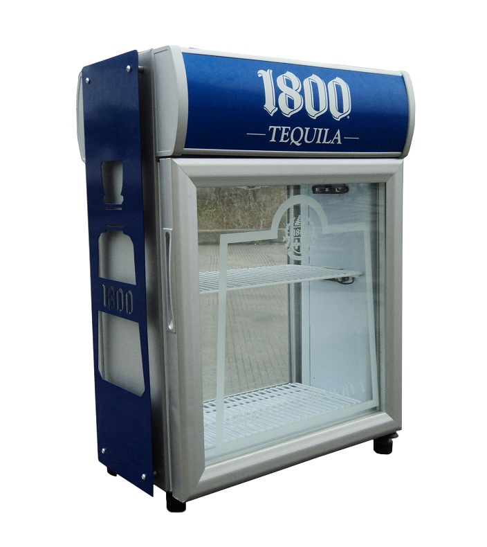 Wholesale Upright Two Glass Door Compressor Display Refrigerator