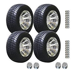 EZGO 205/50-10 Pro Tour Non-Radial Tire with 10-Inch Diamond Wheel Package