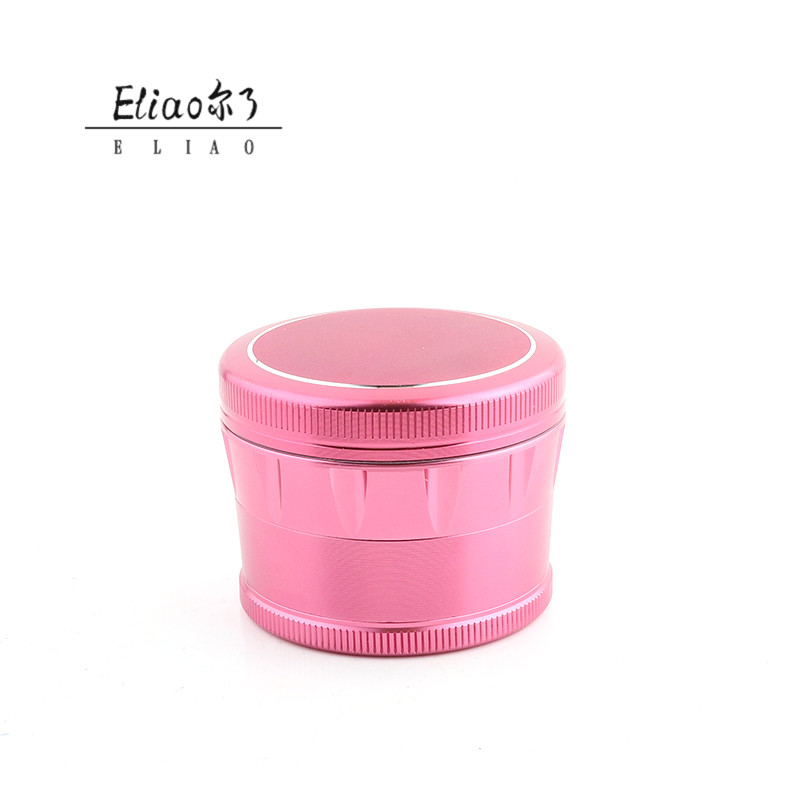 Erliao New Popular 4 parts Good workmanship Tobacco Grinder New style Grinder  Aluminum Alloy Grinder