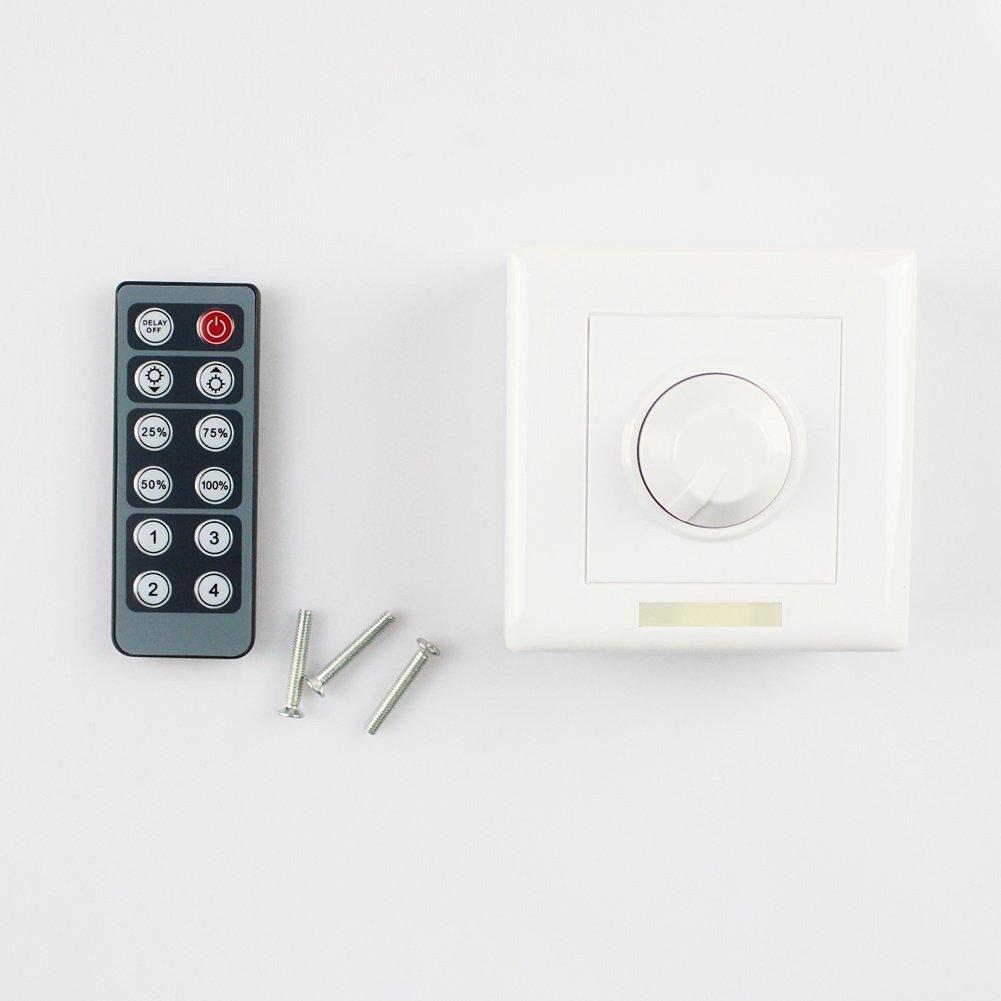 Buy Newest Infrared 12 Key Triac Dimmer 12v Knob Pwm 0 10v Led Triacswitchbb Kapata 12key Single Color For 24v Dc Light Strips