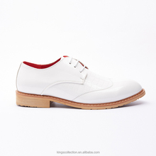 Manufacturer Popular Classic Plain Oxford Durable Good Quality Geniune Leather White Modern Men Wedding Shoes