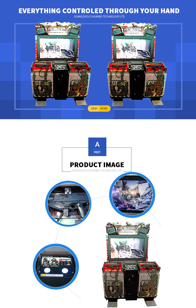 Multi Player Shooting Simulator Arcade gun shooting Game Machine