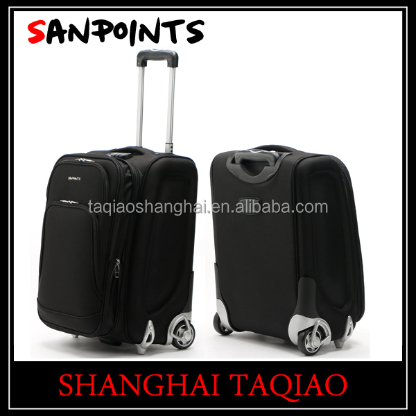 Trolley luggage with built in scale travel suitcase