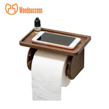 New Design 100 Handmade Wood Decorative Funny Toilet Paper Holder
