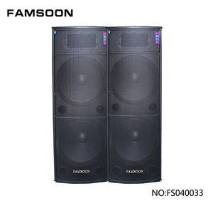 "FAMSOON Dual 18"" inch Powered 1000W PA DJ Active Stage Speaker box With mixer and five-segment professional EQ"