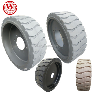 solid tires wheel for aerial lift platforms genie 10x3 12x4.5 15x5 22x7 x17 3/4 etc.